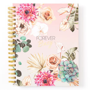 Forever Busy Floral Daily Planner - Pink,