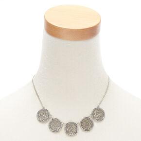 Silver Filigree Medallion Jewelry Set - 2 Pack,