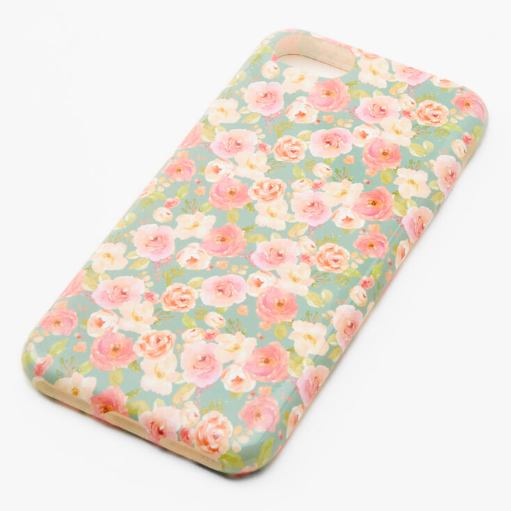 Pink & White Floral Phone Case - Fits iPhone 6/7/8/SE,