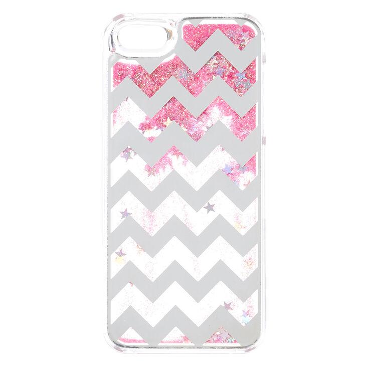 Pink Chevron Liquid Phone Case,