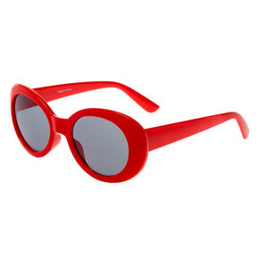 Round Mod Sunglasses - Red,