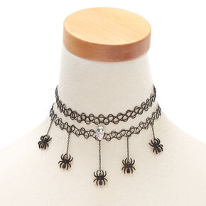 Halloween Charm Choker Necklaces - 2 Pack,