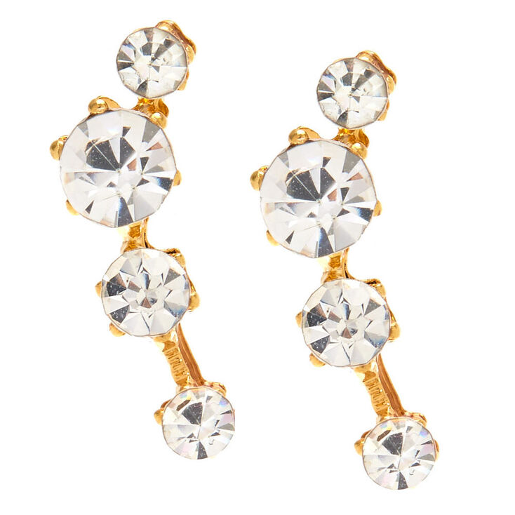 Gold Plated Crystal Constellation Ear Crawlers,