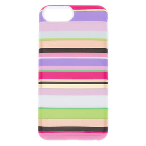 Rainbow Striped Protective Phone Case - Fits iPhone 6/7/8 Plus,