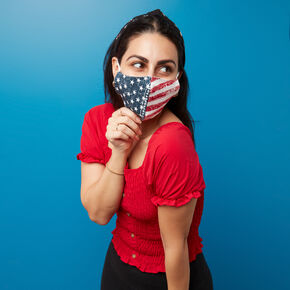 American Flag Face Mask - Adult,