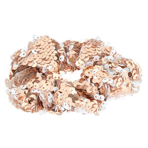 Sequin Hair Scrunchie - Champagne Gold,