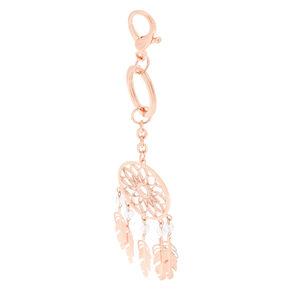 Dream Catcher Keychain - Rose Gold,