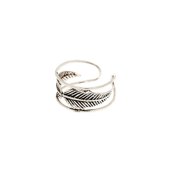 Sterling Silver Double Leaf Toe Ring,