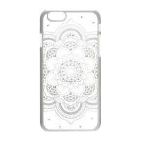 Silver Flower Mandala Phone Case - Fits iPhone 6/6S,
