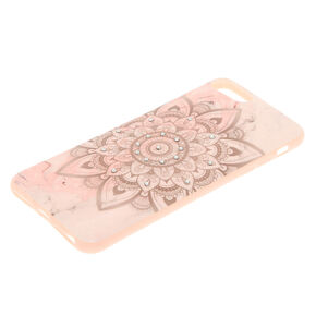 Marbled Mandala Phone Case - Pink,