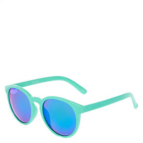 Mint Cat Eye Mirrored Sunglasses,