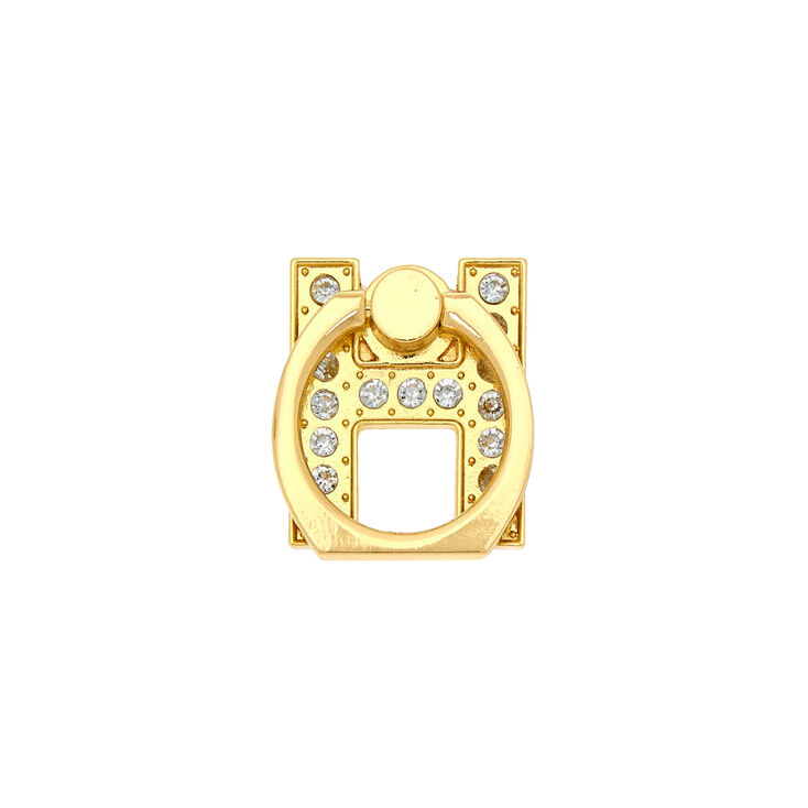 Gold Initial Ring Stand - H,
