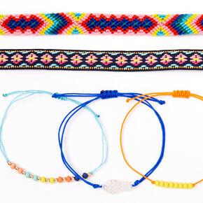 Mixed Neon Pineapple Friendship Bracelets - 5 Pack,