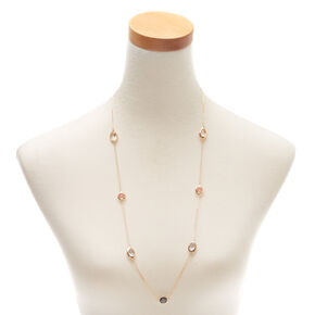 Gold Pastel Shine Long Necklace,