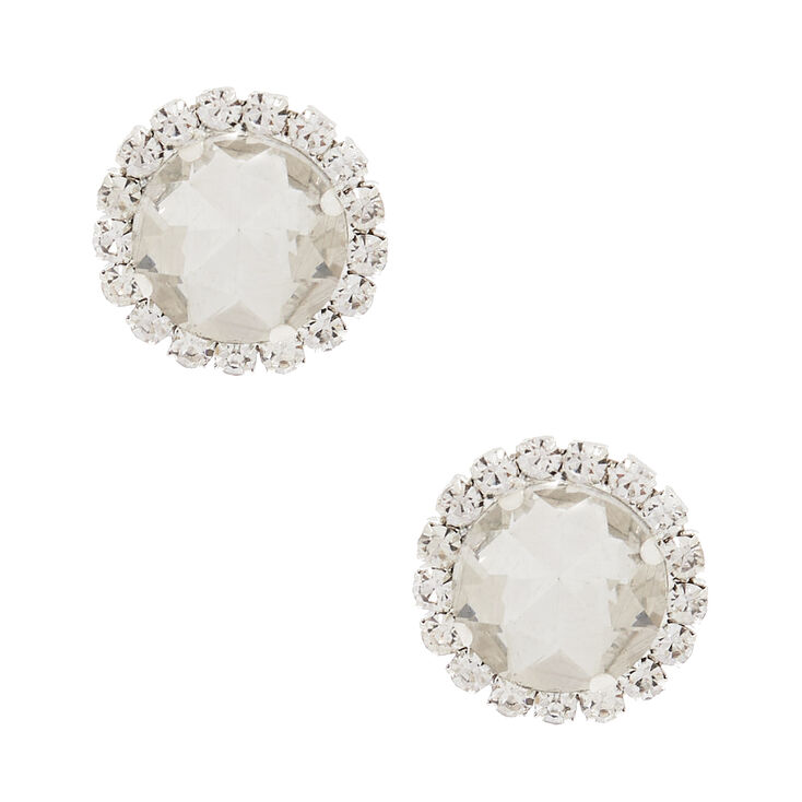 1960s Jewelry Styles and Trends to Wear Icing Silver Crystal Stud Earrings $9.99 AT vintagedancer.com