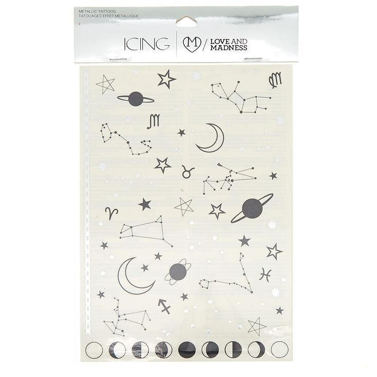Constellation Temporary Tattoos - Black,
