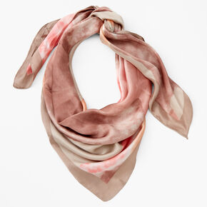 35 x 35 Taupe Pink Scarf,