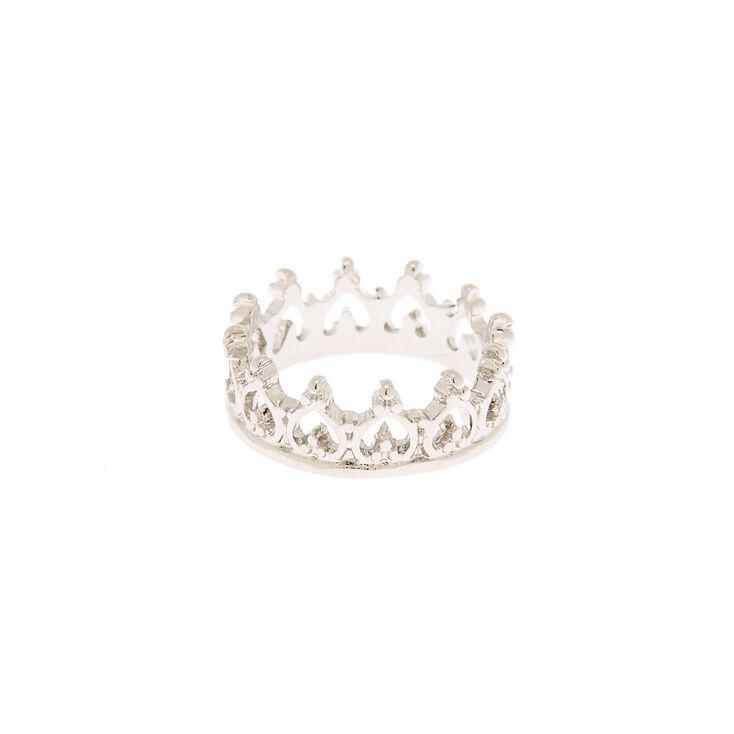 Silver Crown Midi Ring,