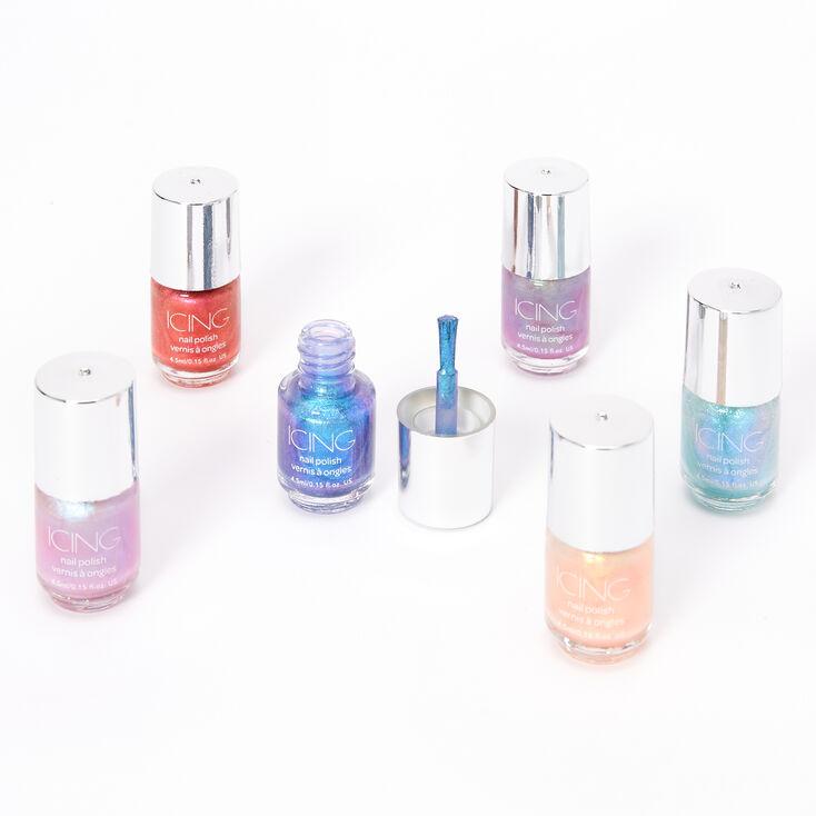 Shimmer Mini Nail Polish Set - 6 Pack,
