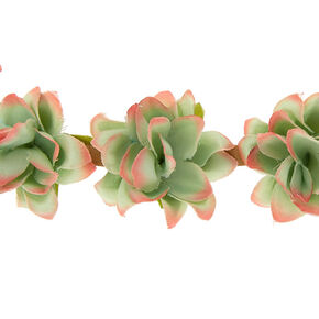 Faux Succulent Headwrap - Green,
