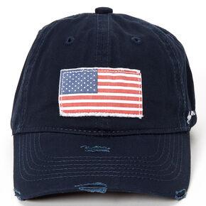 American Flag Baseball Cap - Navy,