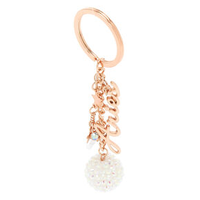 Zodiac Rose Gold Keychain - Aries,