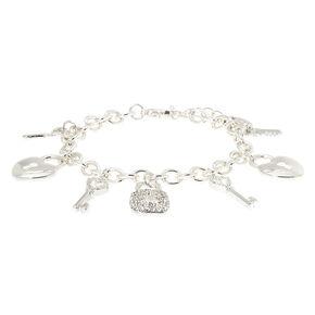 Silver Love Story Charm Bracelet,