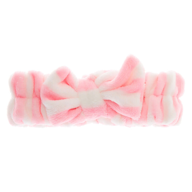 Striped Makeup Headwrap - Pink,