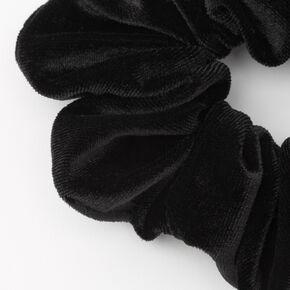 Medium Flat Velvet Hair Scrunchie - Black,