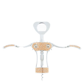 Rose Gold Rhinestone Corkscrew,