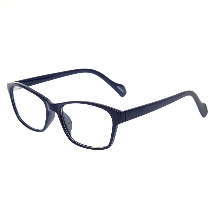 Rectangle Clear Lens Frames - Navy,
