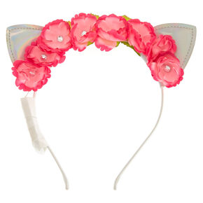 Pink Holographic Light Up Headband,
