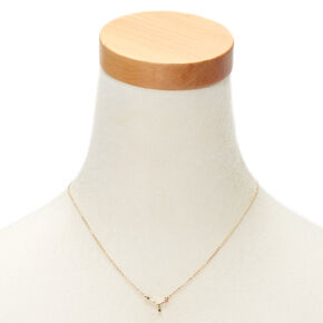 Gold Zodiac Constellation Pendant Necklace - Cancer,