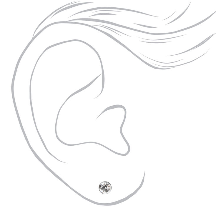 Hematite Round Mixed Stud Earrings - 9 Pack,