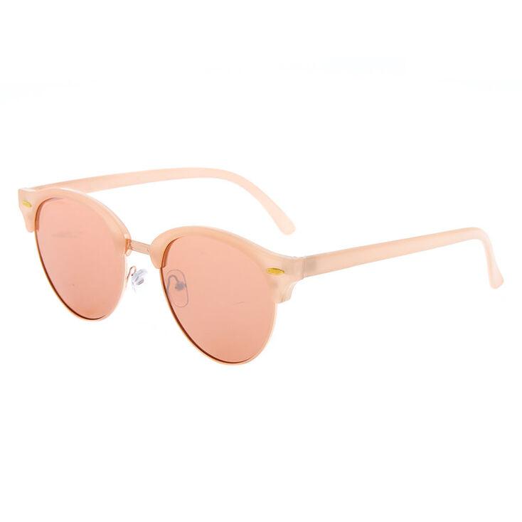 Mod Round Sunglasses - Rose Gold,
