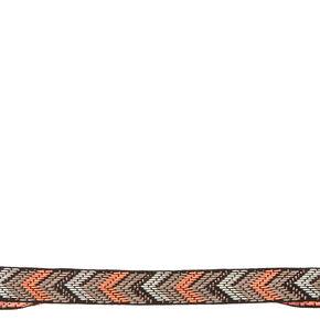 Black And Coral Chevron Headwrap,