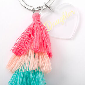 Mother Daughter Tassle Keychains - 2 Pack,