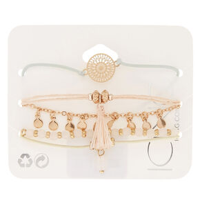 Rose Gold Pastel Bracelets - 5 Pack,