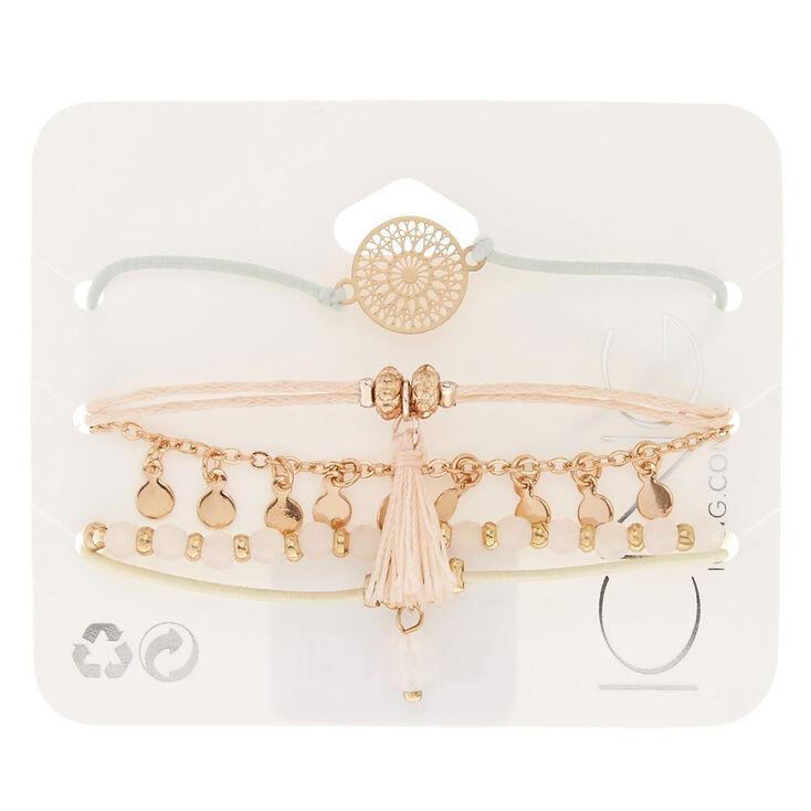 Rose Gold Pastel Bracelets - 5 Pack,