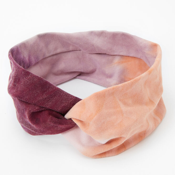 Pink & Purple Tie Dye Twisted Headwrap,