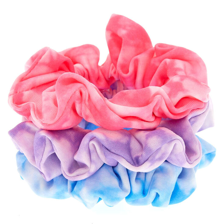 Small Tie Dye Twist Hair Scrunchies - 3 Pack,
