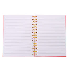 Je T'Aime Mon Cheri Cherries Notebook - Pink,