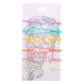 Pastel Geometric Hair Pins - 6 Pack,