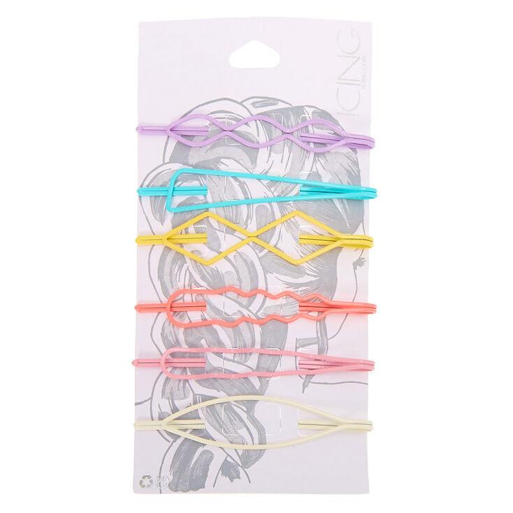 Pastel Geometric Hair Pins - 6 Pack,