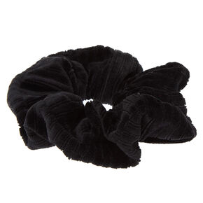 Ribbed Velvet Hair Scrunchie - Black,