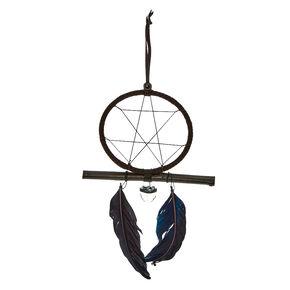 Black Feather + Crystal Dreamcatcher,