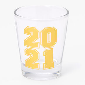 2021 Graduation Shot Glass - Gold,