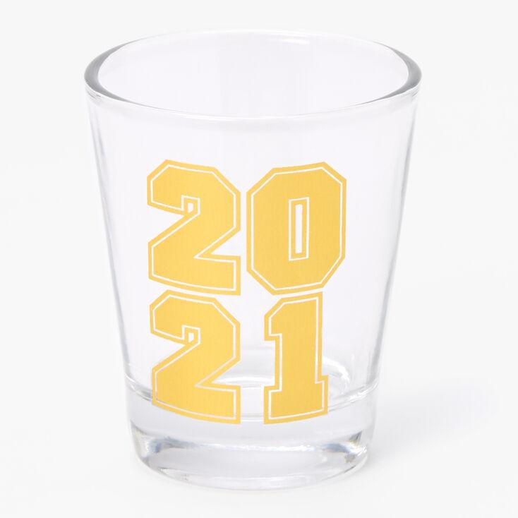 2021 Graduation Shot Glass - Gold,