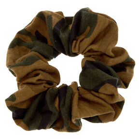 Classic Camo Print Hair Scrunchie,