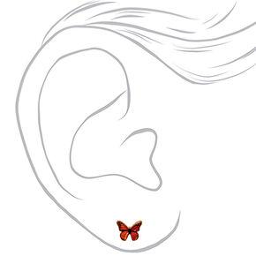 18kt Gold Plated Monarch Butterfly Stud Earrings,